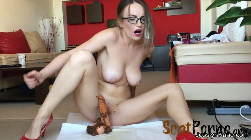 JosslynKane - Strip tease and pooping on your cock
