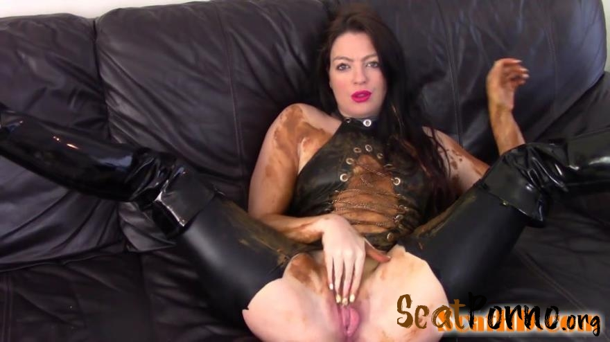 Evamarie88 - Messy Shit Smear On The Leather Couch