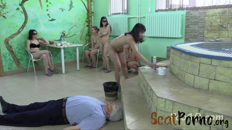 MilanaSmelly  - 5 Girls tear up the toilet slave